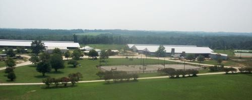Double D Equestrian Center_ aerial photo of horse farm