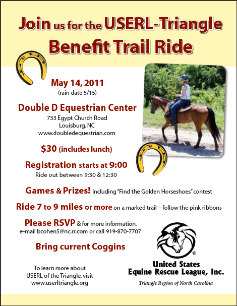 USERL Benefit Trail Ride at Double D Equestrian USERL Triangle Benefit Trail Ride